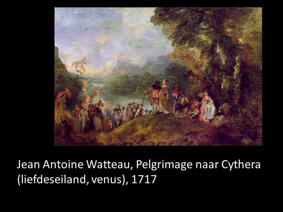 Jean Antoine Watteau, Pelgrimage naar Cythera (liefdeseiland, venus), 1717