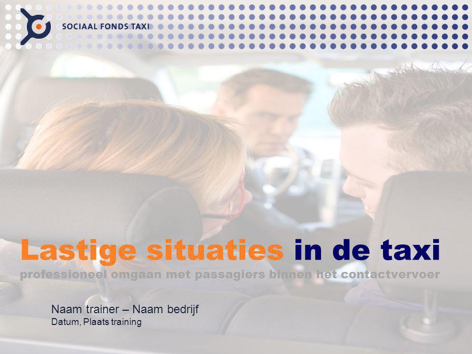 Introductie: vertellen dat de taxichauffeurs in deze training leren hoe zij de gedragsprotocol kunnen gebruiken en toepassen in de praktijk.