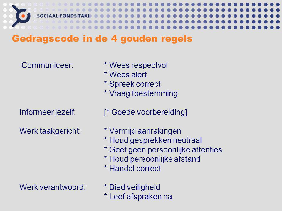 Gedragscode in de 4 gouden regels