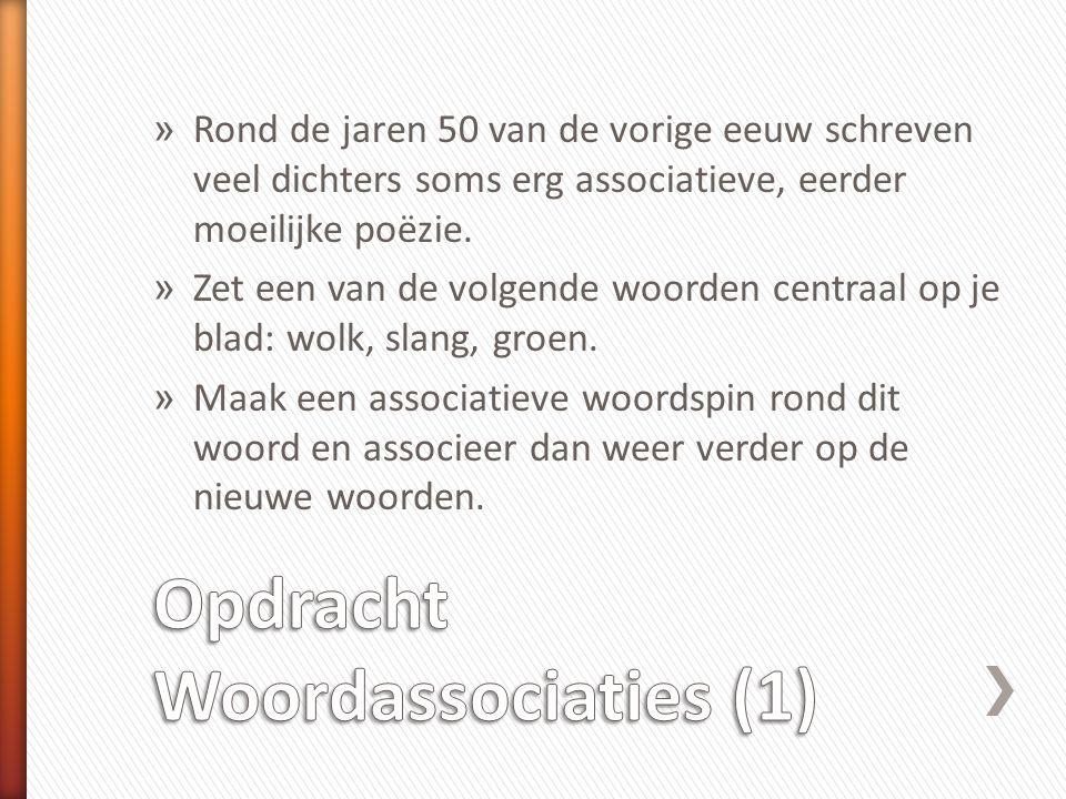 Opdracht Woordassociaties (1)