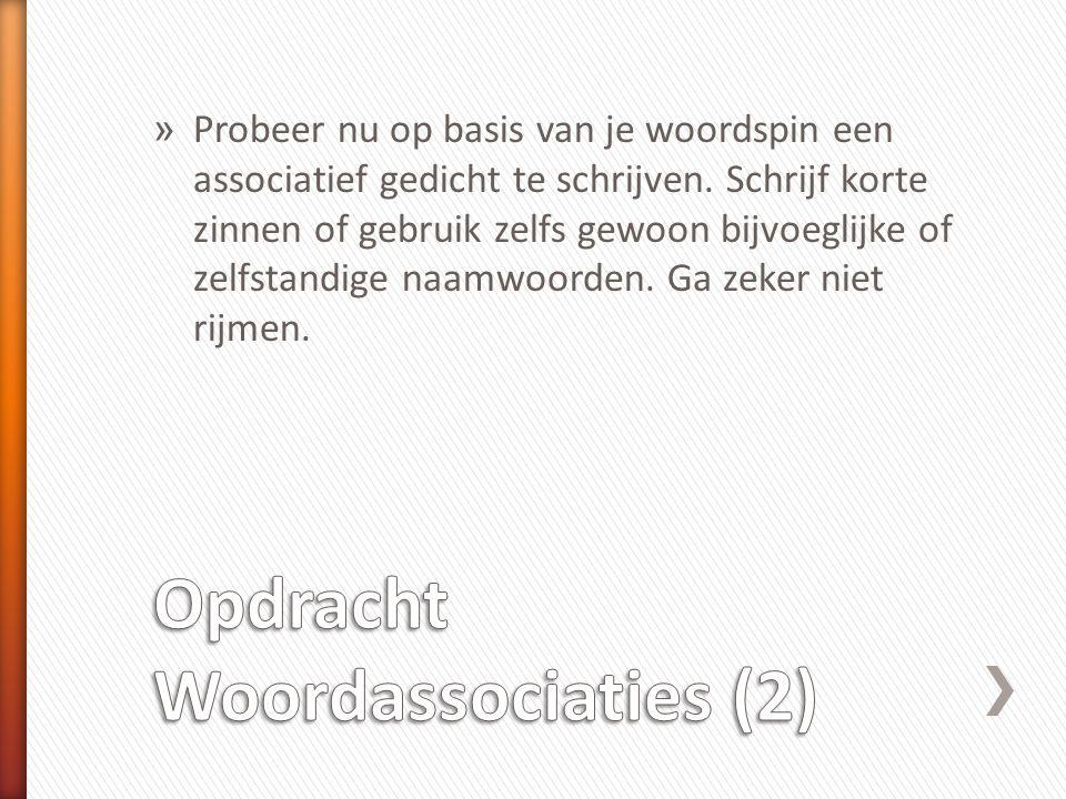 Opdracht Woordassociaties (2)