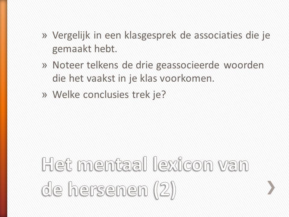 Het mentaal lexicon van de hersenen (2)