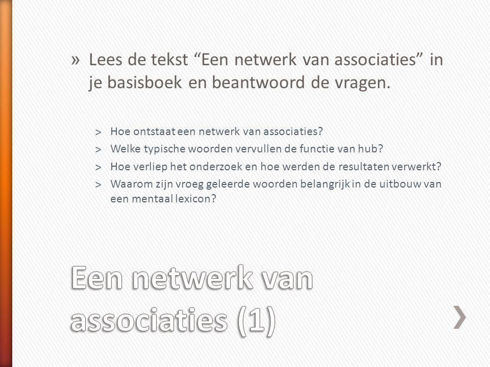 Een netwerk van associaties (1)