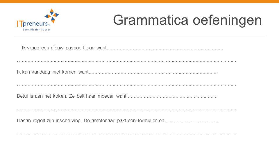 Grammatica oefeningen