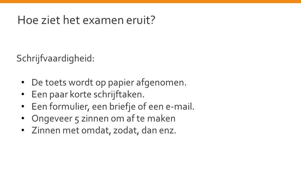 Hoe ziet het examen eruit