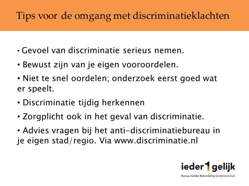 Tips voor de omgang met discriminatieklachten