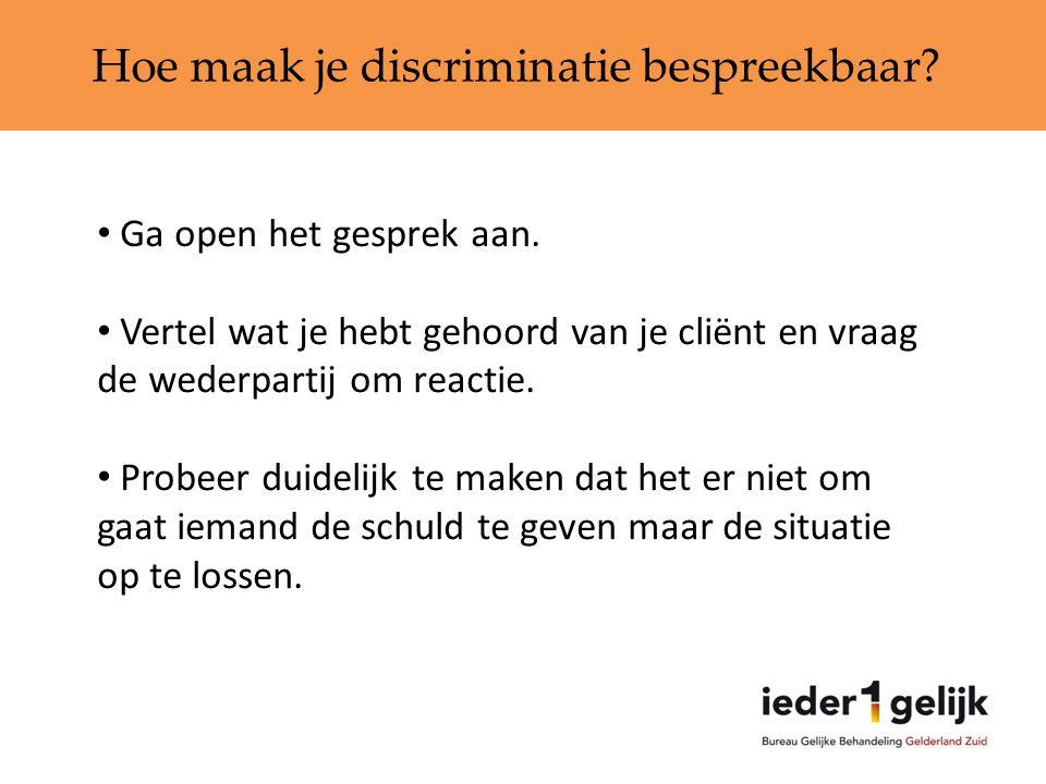 Hoe maak je discriminatie bespreekbaar