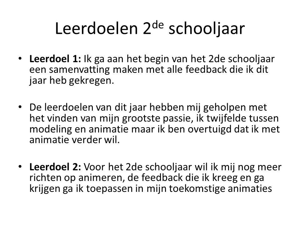 Leerdoelen 2de schooljaar