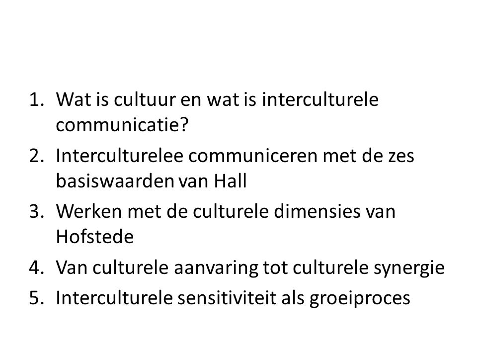 Wat is cultuur en wat is interculturele communicatie
