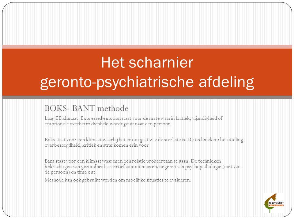 Het scharnier geronto-psychiatrische afdeling