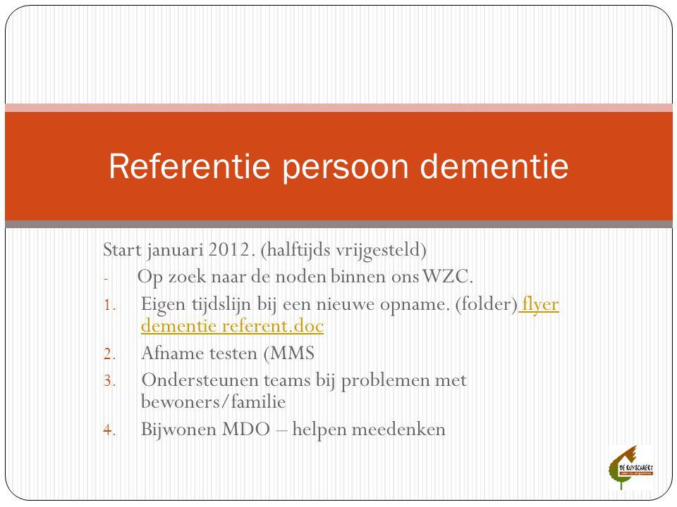 Referentie persoon dementie