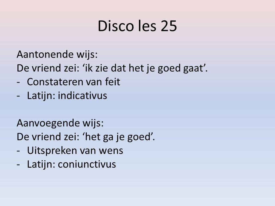 Disco les 25 Aantonende wijs: