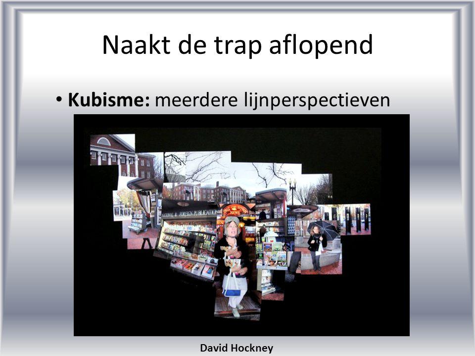 Naakt de trap aflopend Kubisme: meerdere lijnperspectieven