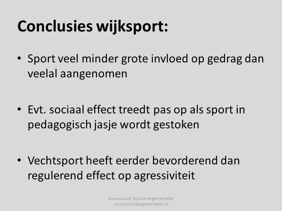Conclusies wijksport: