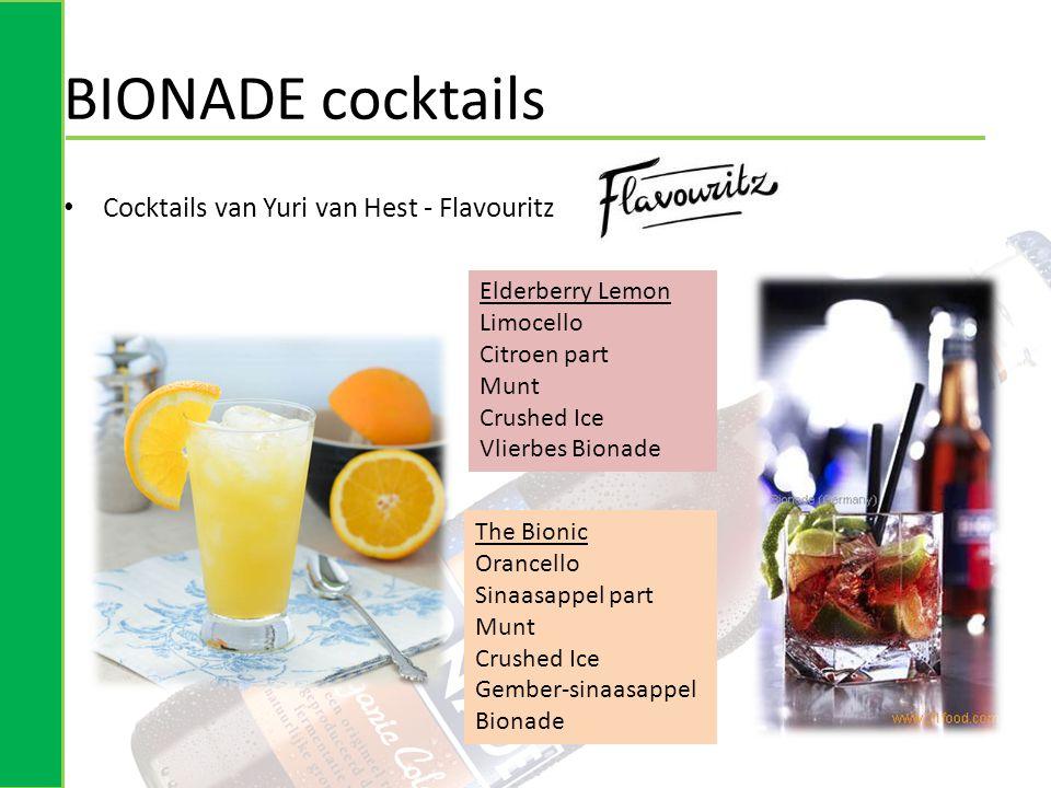 BIONADE cocktails Cocktails van Yuri van Hest - Flavouritz
