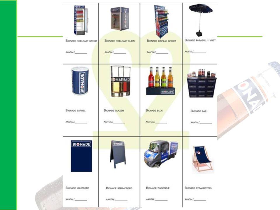 Veel pos materialen om Bionade cola te promoten…