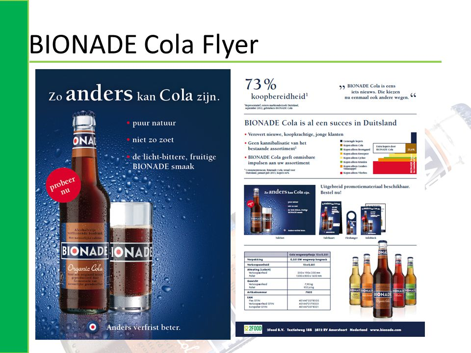 BIONADE Cola Flyer