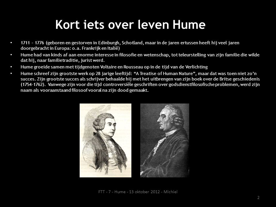 Kort iets over leven Hume