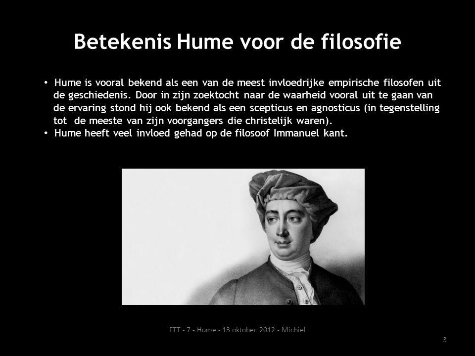 Betekenis Hume voor de filosofie