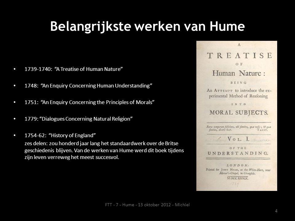 Belangrijkste werken van Hume