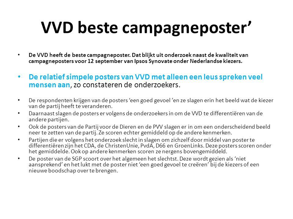 VVD beste campagneposter'