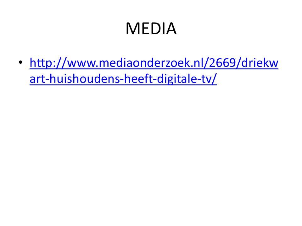 MEDIA http://www.mediaonderzoek.nl/2669/driekwart-huishoudens-heeft-digitale-tv/