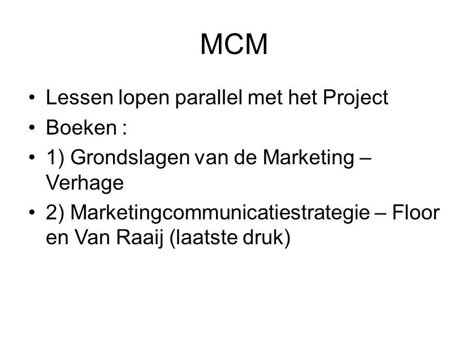 MCM Lessen lopen parallel met het Project Boeken :