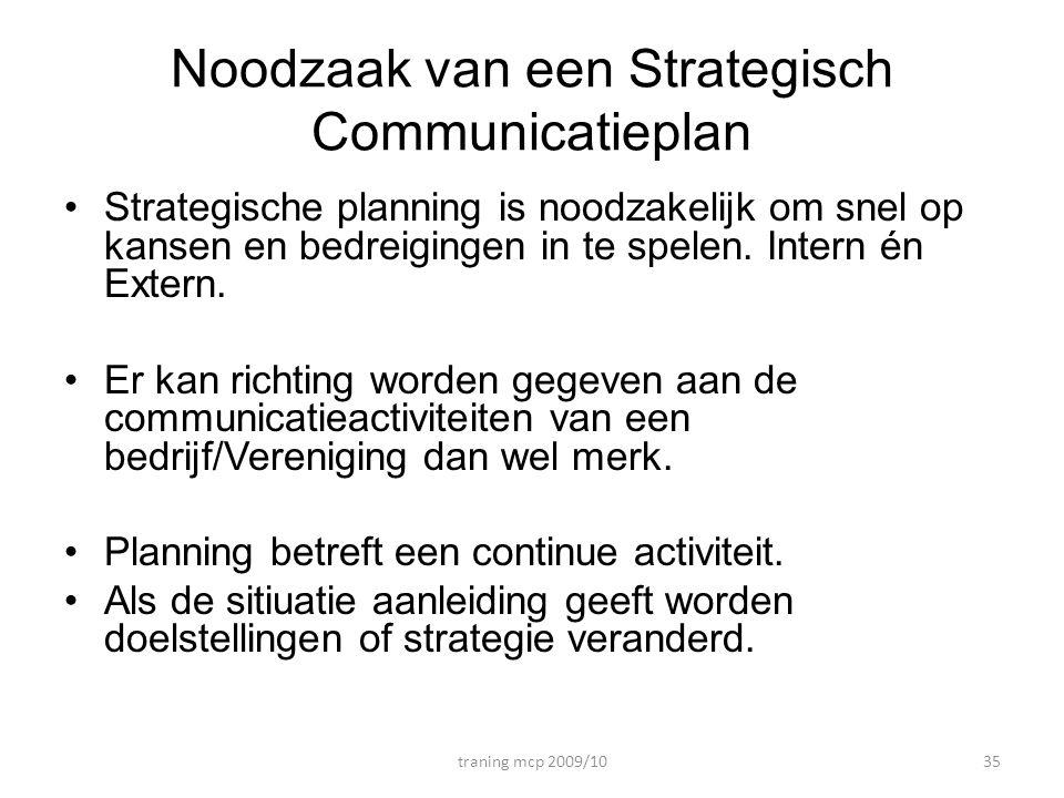 Noodzaak van een Strategisch Communicatieplan