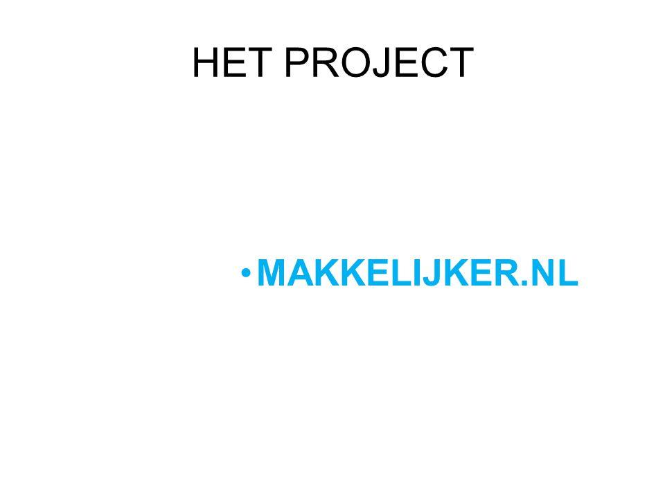 HET PROJECT MAKKELIJKER.NL