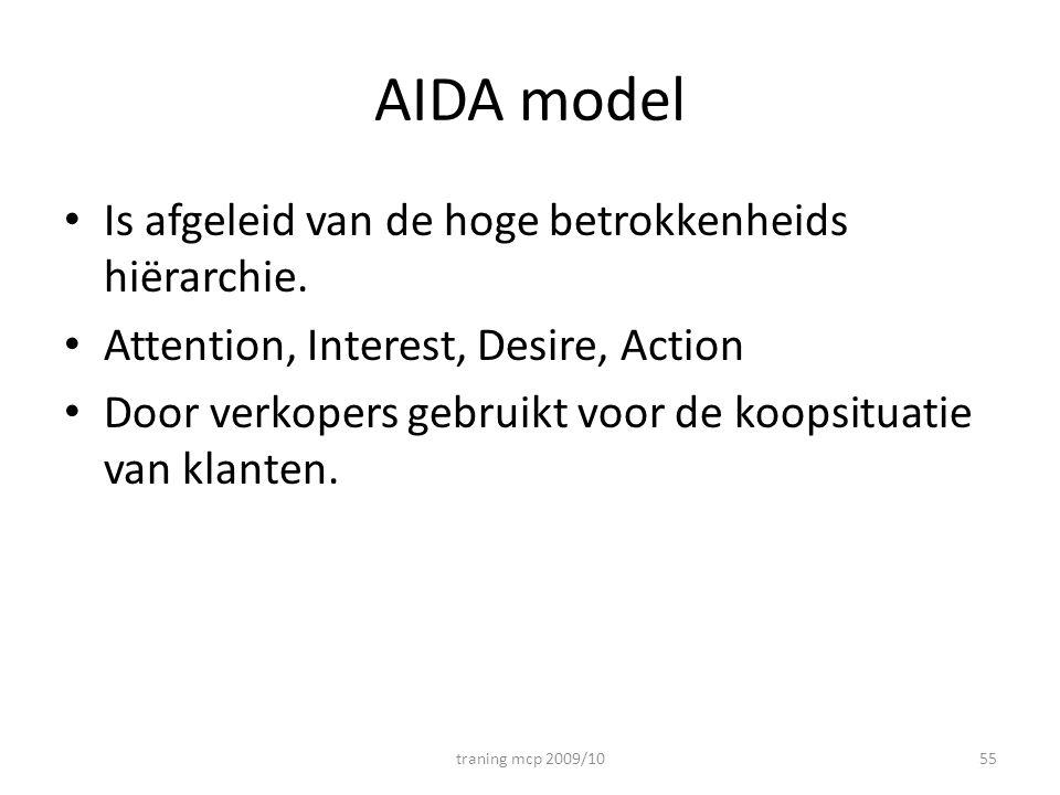 AIDA model Is afgeleid van de hoge betrokkenheids hiërarchie.
