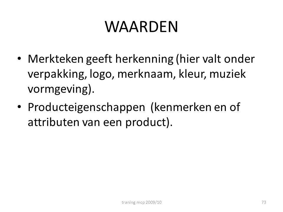 WAARDEN Merkteken geeft herkenning (hier valt onder verpakking, logo, merknaam, kleur, muziek vormgeving).