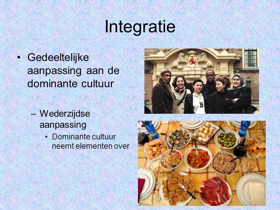 Integratie Gedeeltelijke aanpassing aan de dominante cultuur