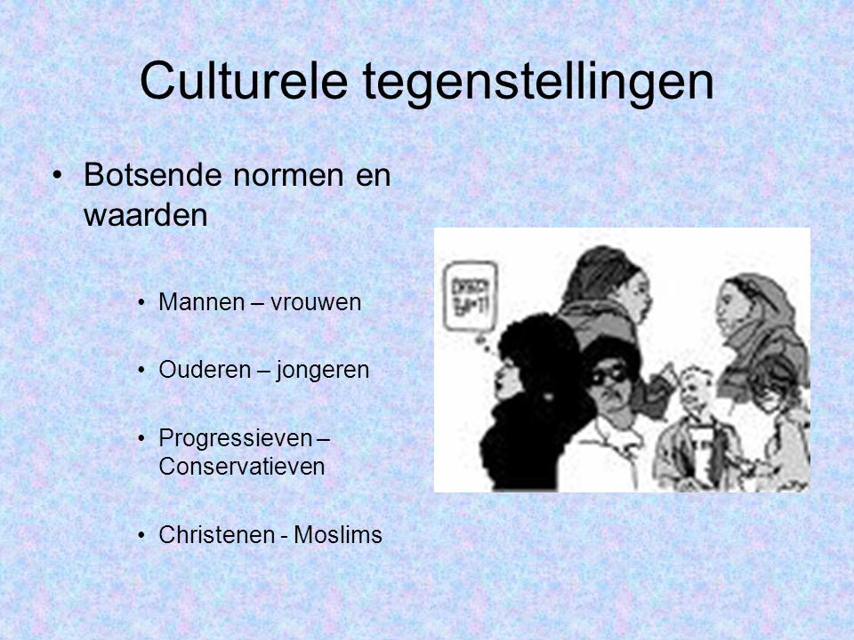 Culturele tegenstellingen