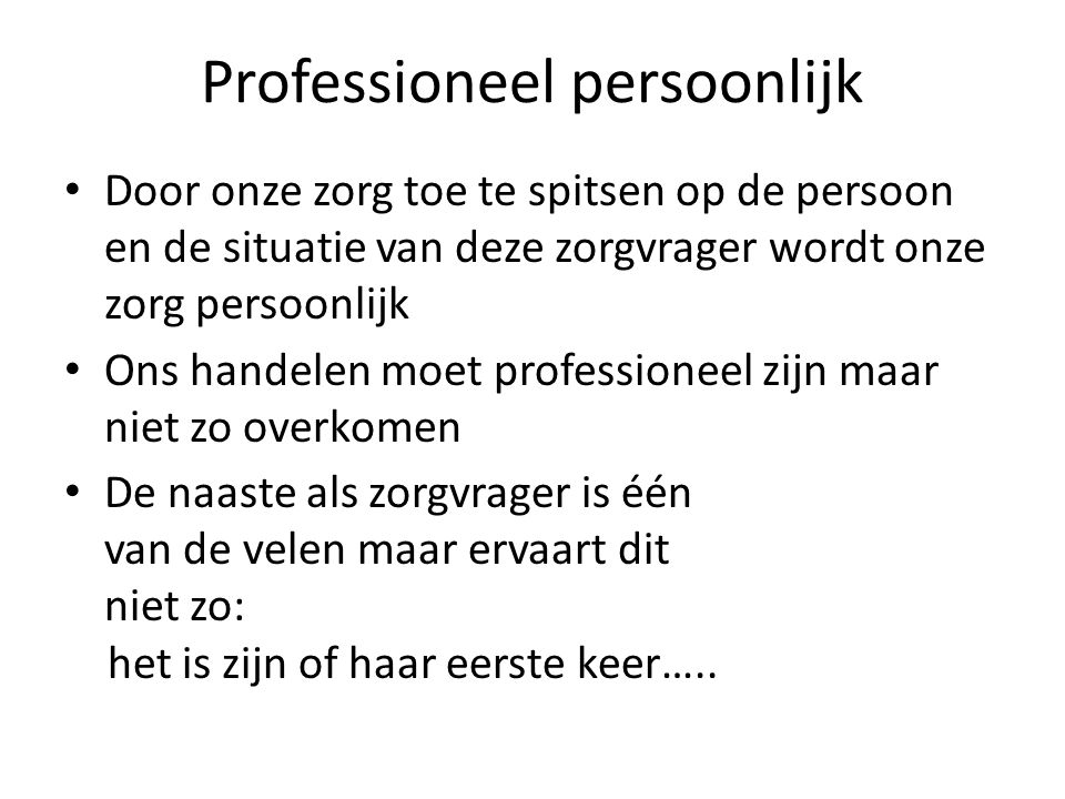 Professioneel persoonlijk