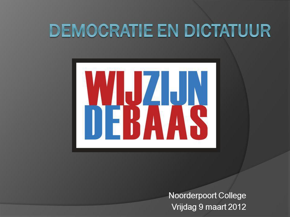 Democratie en dictatuur