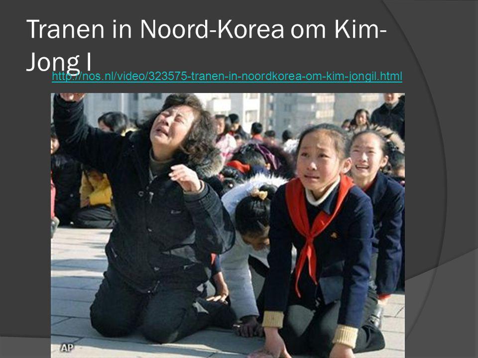 Tranen in Noord-Korea om Kim-Jong I