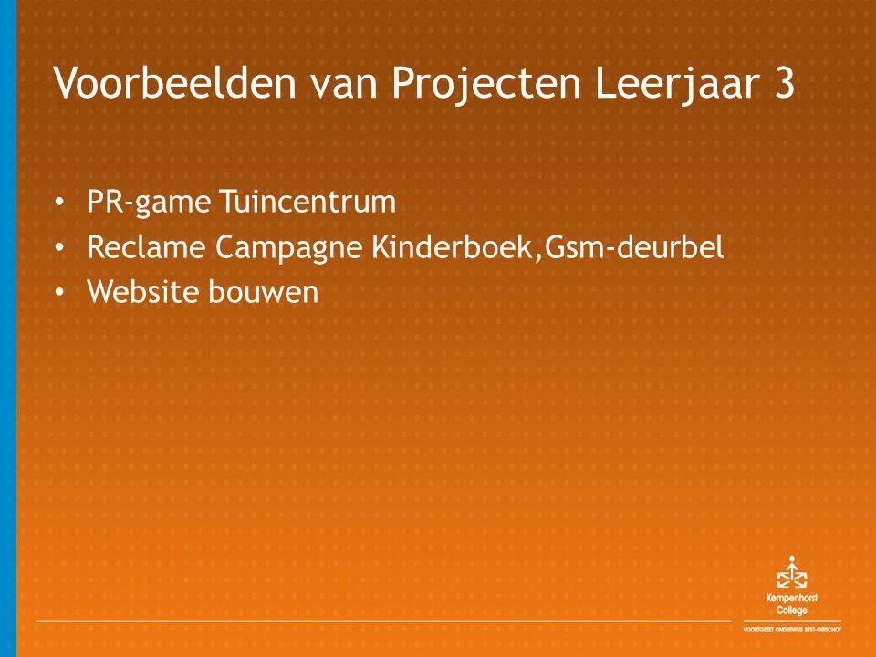 Voorbeelden van Projecten Leerjaar 3