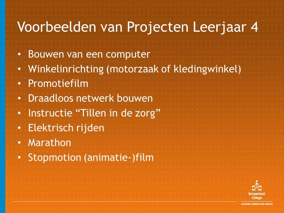 Voorbeelden van Projecten Leerjaar 4