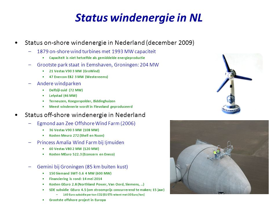 Status windenergie in NL
