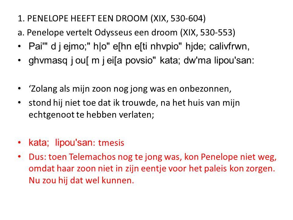 1. PENELOPE HEEFT EEN DROOM (XIX, 530-604)