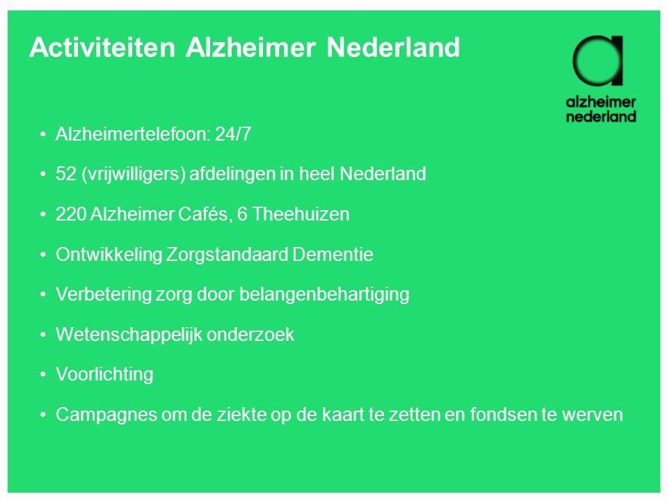 Activiteiten Alzheimer Nederland