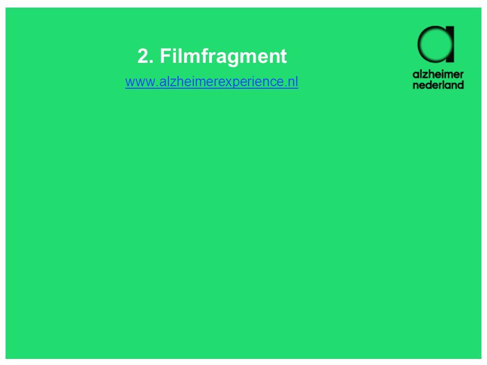 2. Filmfragment www.alzheimerexperience.nl