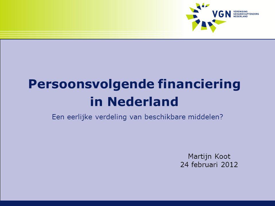 Persoonsvolgende financiering in Nederland