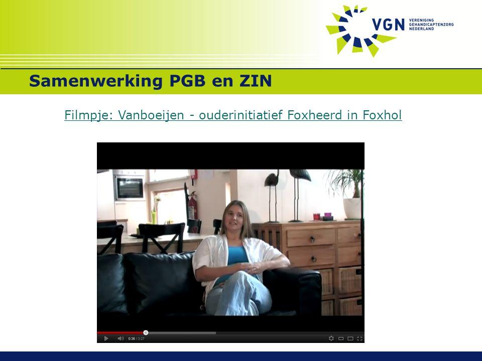 Samenwerking PGB en ZIN