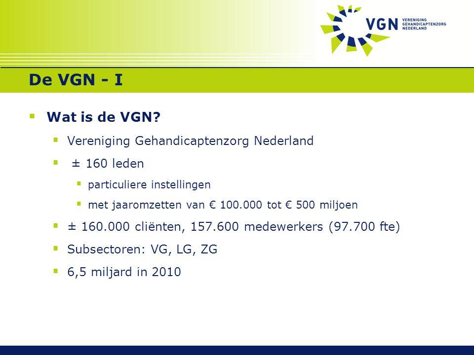 De VGN - I Wat is de VGN Vereniging Gehandicaptenzorg Nederland