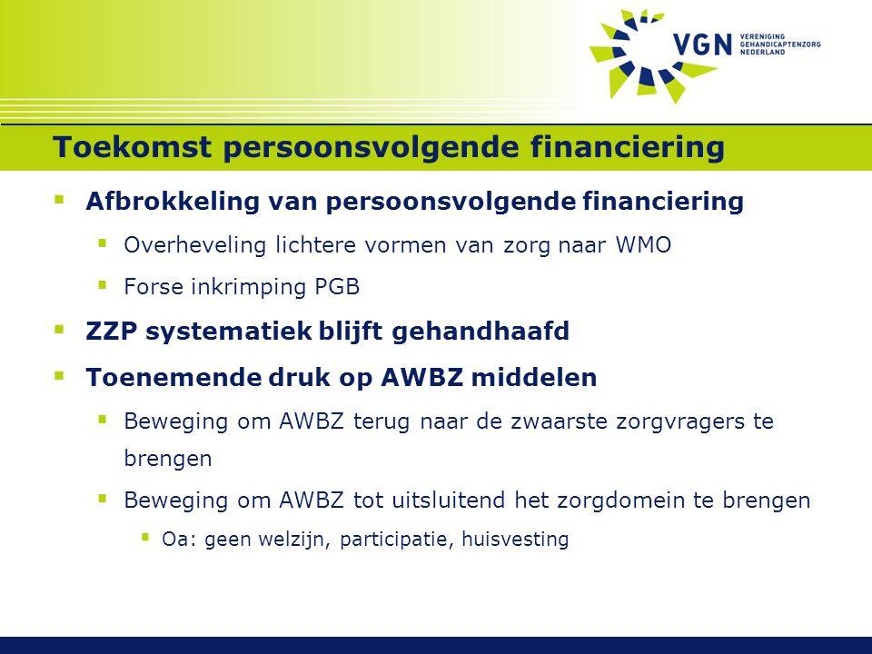 Toekomst persoonsvolgende financiering