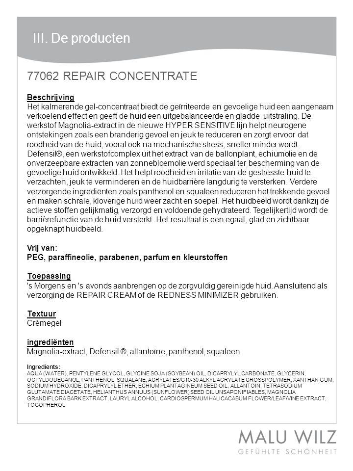 III. De producten 77062 REPAIR CONCENTRATE Beschrijving