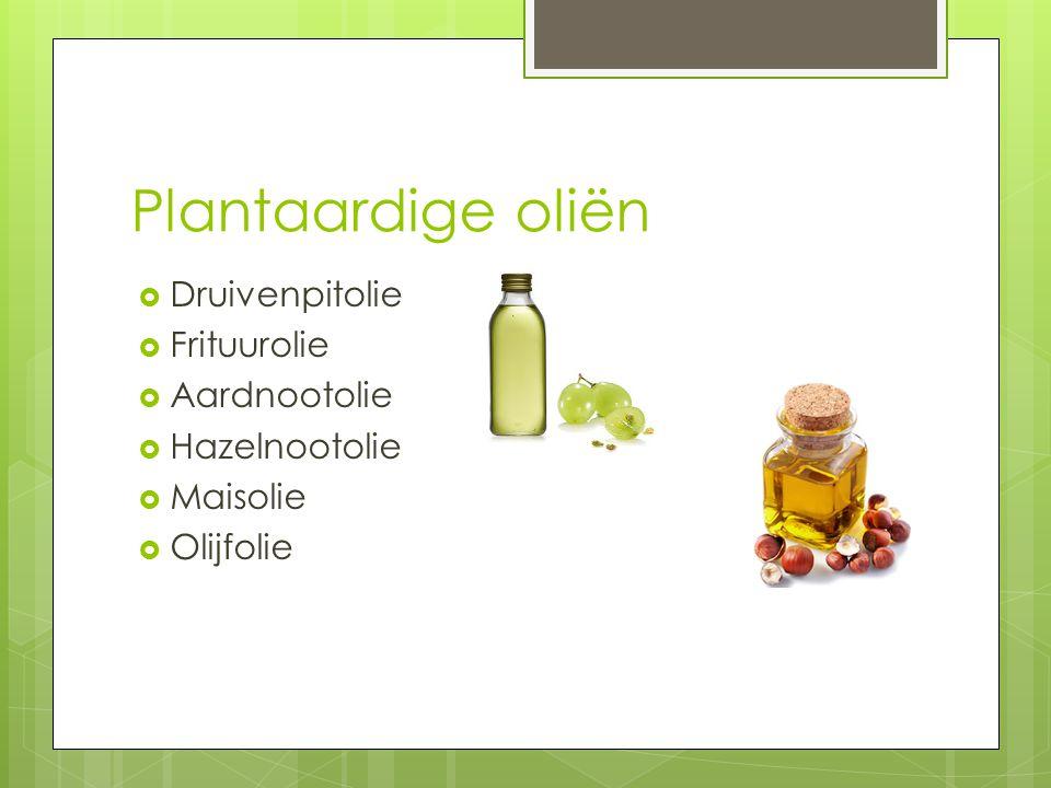 Plantaardige oliën Druivenpitolie Frituurolie Aardnootolie