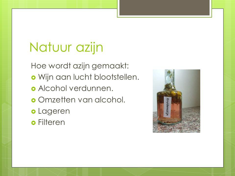 Natuur azijn Hoe wordt azijn gemaakt: Wijn aan lucht blootstellen.
