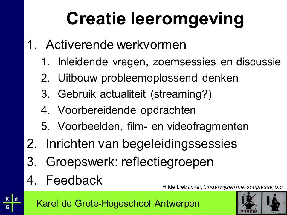 Creatie leeromgeving Activerende werkvormen